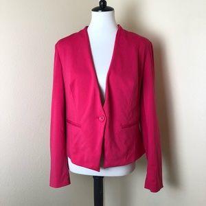 INC Hot Pink Button Front Work Career Blazer